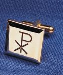 Cuff Link With Chi Rho Design