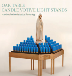 Wooden Oak Votive Stand Table
