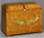 Wooden Ossuary With Golden Oak Finish