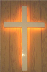 Traditional Fiberglass Wall Cross With Backlight