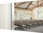 Standard Acoustical  Room Divider for Churches