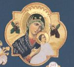 Embroidered Madonna and Child Applique
