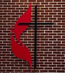 United Methodist Cross & Flame Wall Cross
