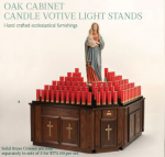 Oak Votive Stand with Cabinet
