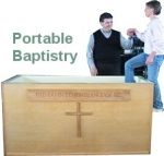 Portable Baptistry with Cabinet