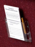 Plastic Card & Pencil Holder