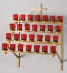 28 Light Wallmount Votive Stand