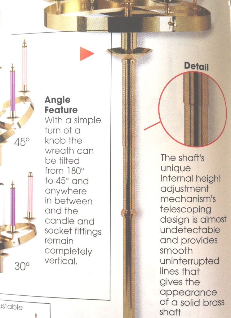 Hover Over Image To Zoom. SB1006H   Solid Brass Adjustable Advent Wreath