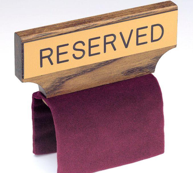Pew Reserved Sign Item Sec Rc5 Southeast Church Supply