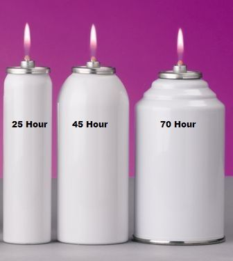 Metal disposable oil cannister southeast church supply for Oil filled candlesticks